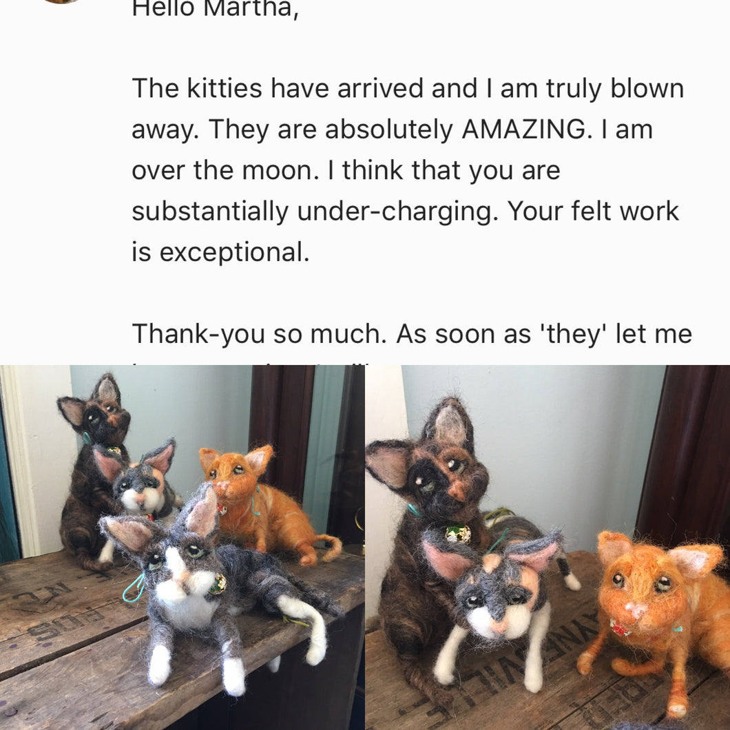 Custom cat or dog replica sculpture
