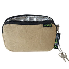 Load image into Gallery viewer, Padded Locking Hemp Stash Bag Small