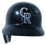 LARRY WALKER Signed Colorado Rockies Helmet