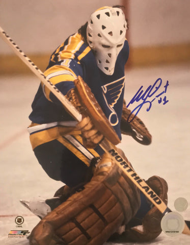 MIKE LIUT Signed St. Louis Blues Photo