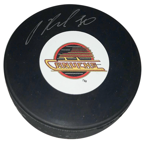 PAVEL BURE Signed Puck Vancouver Canucks