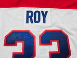 PATRICK ROY - Twice Signed - Montreal Canadiens Jersey