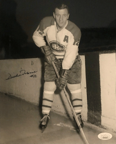 DICKIE MOORE Signed Montreal Canadiens PHOTO