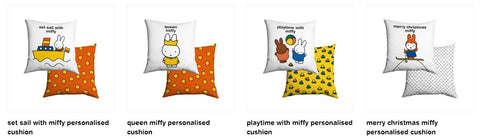 personalised miffy cushions