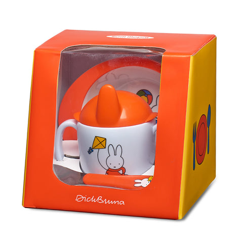 3-Piece baby Homeware Set With Miffy Plays Print