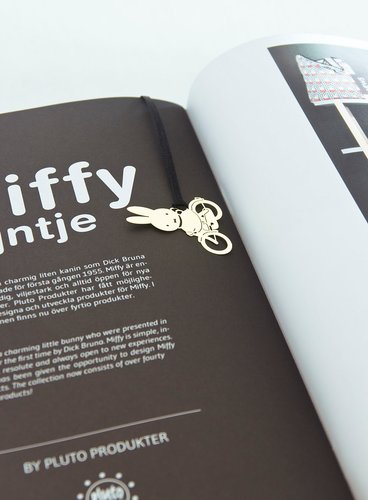 Miffy Bicycle Bookmark Gold