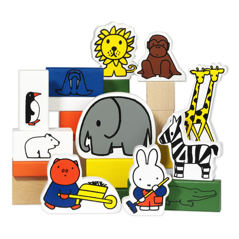 Miffy 30 Piece Wooden Zoo Blocks Miffy Wooden Zoo