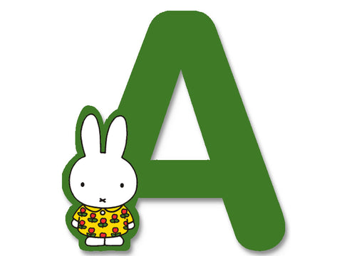 A (Green) - A to Z Miffy Wooden Letter
