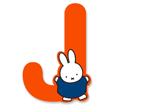 J (Orange) - A to Z Miffy Wooden Letter