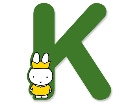 K (Green) - A to Z Miffy Wooden Letter