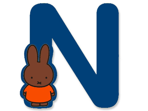 N (Blue) - A to Z Miffy wooden letter A to Z Miffy Wooden Letter