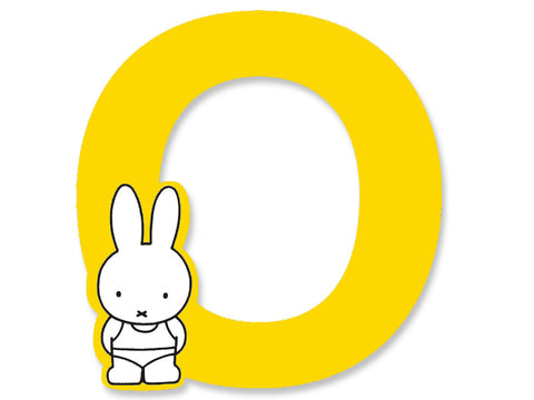 O (Yellow) - A to Z Miffy wooden letter A to Z Miffy Wooden Letter