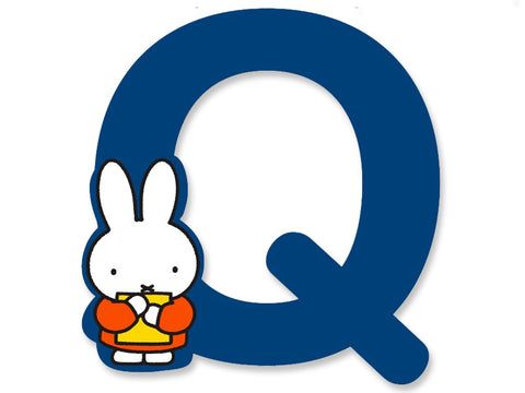 Q (Blue) - A to Z Miffy wooden letter A to Z Miffy Wooden Letter