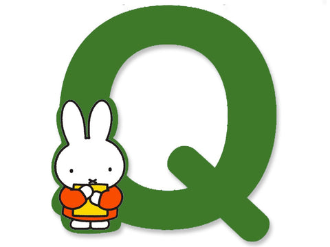 Q (Green) - A to Z Miffy Wooden Letter