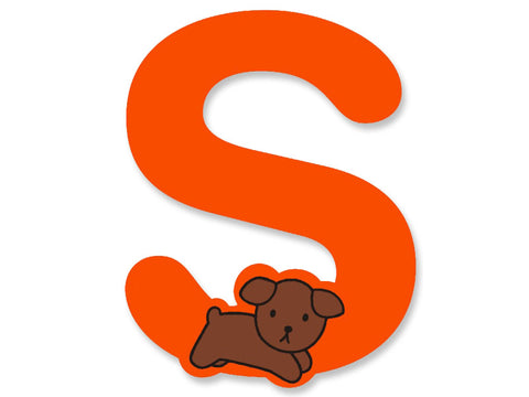 S (Orange) - A to Z Miffy Wooden Letter
