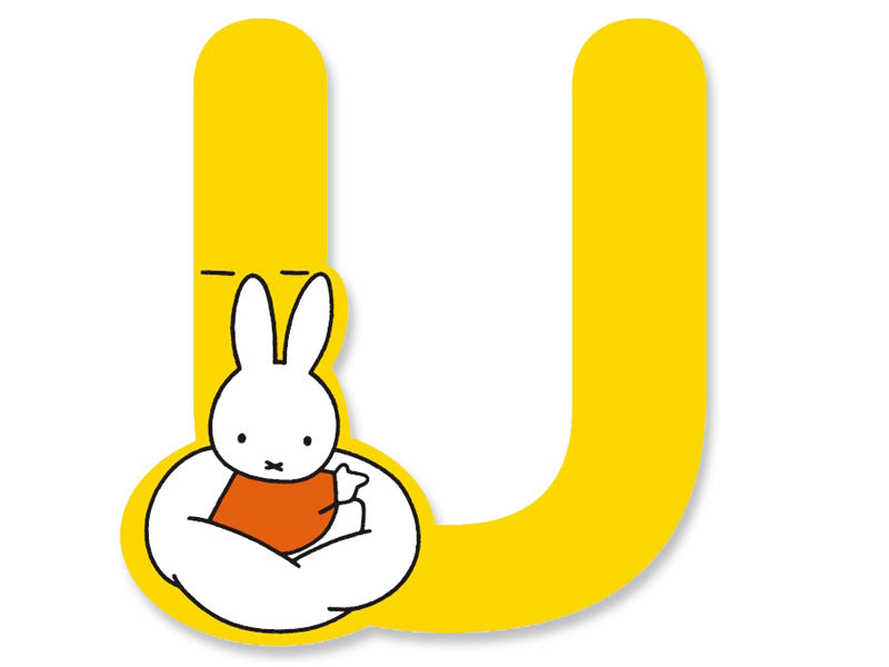 U (Yellow) - A to Z Miffy Wooden Letter