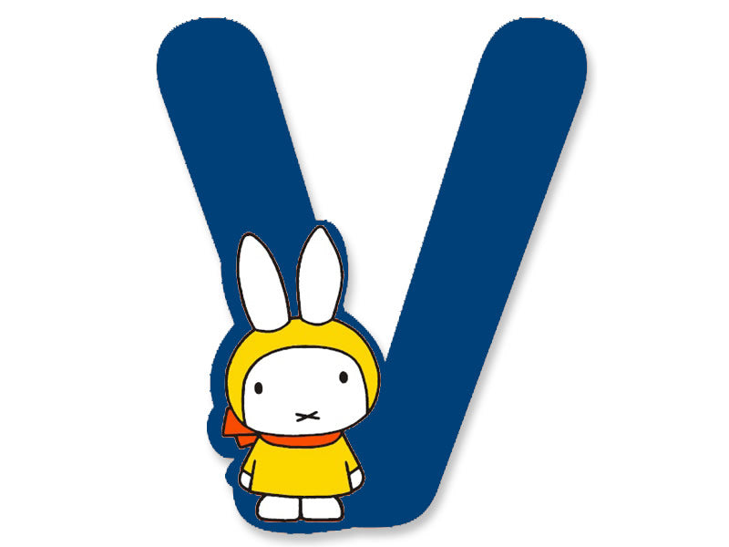 V (Blue) - A to Z Miffy Wooden Letter