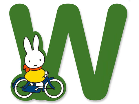 W (Green) - A to Z Miffy Wooden Letter
