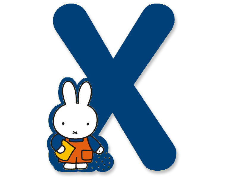 X (Blue) - A to Z Miffy Wooden Letter