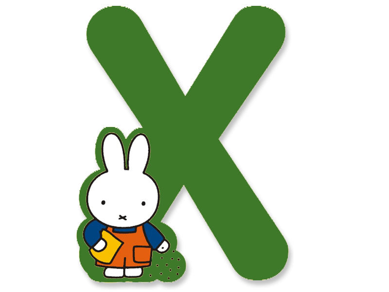 X (Green) - A to Z Miffy Wooden Letter