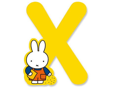 X (Yellow) - A to Z Miffy Wooden Letter