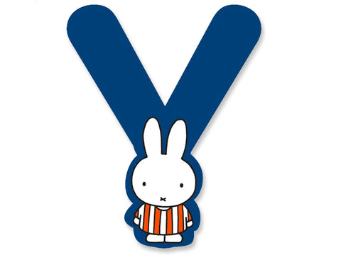 Y (Blue) - A to Z Miffy Wooden Letter