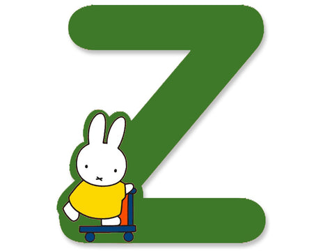 Z (Green) - A to Z Miffy Wooden Letter