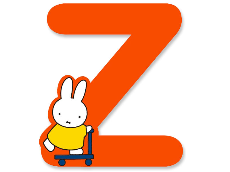 Z (Orange) - A to Z Miffy Wooden Letter