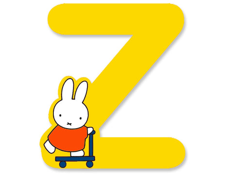 Z (Yellow) - A to Z Miffy Wooden Letter