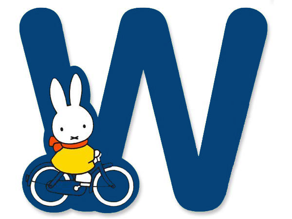 W (Blue) - A to Z Miffy wooden letter