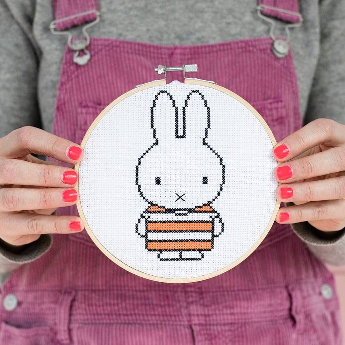 Miffy Stripe Top Cross Stitch Hoop Kit