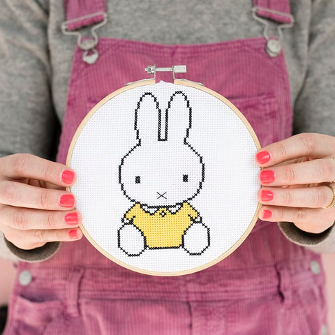 Miffy Yellow Top Cross Stitch Hoop Kit