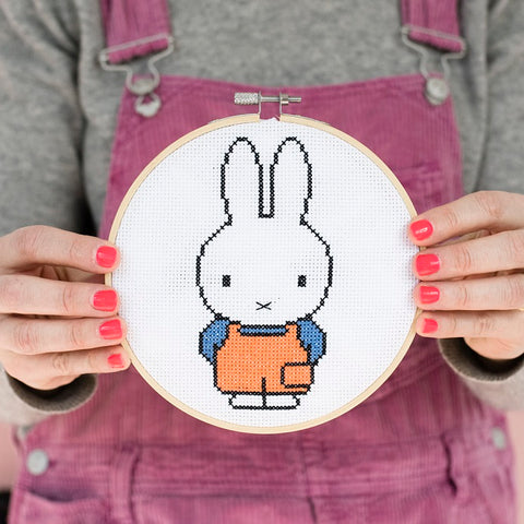 Miffy Orange Dungaree Top Cross Stitch Hoop Kit