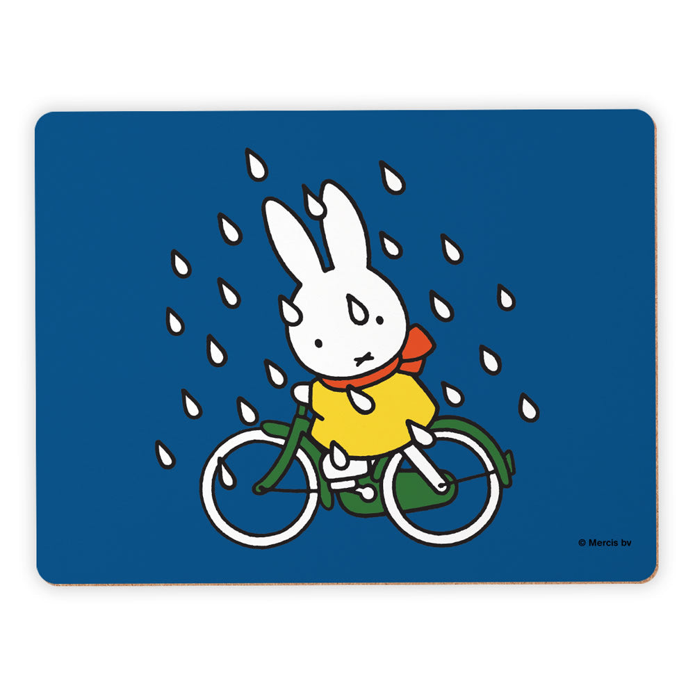 Miffy On Her Bike in the Rain Placemat