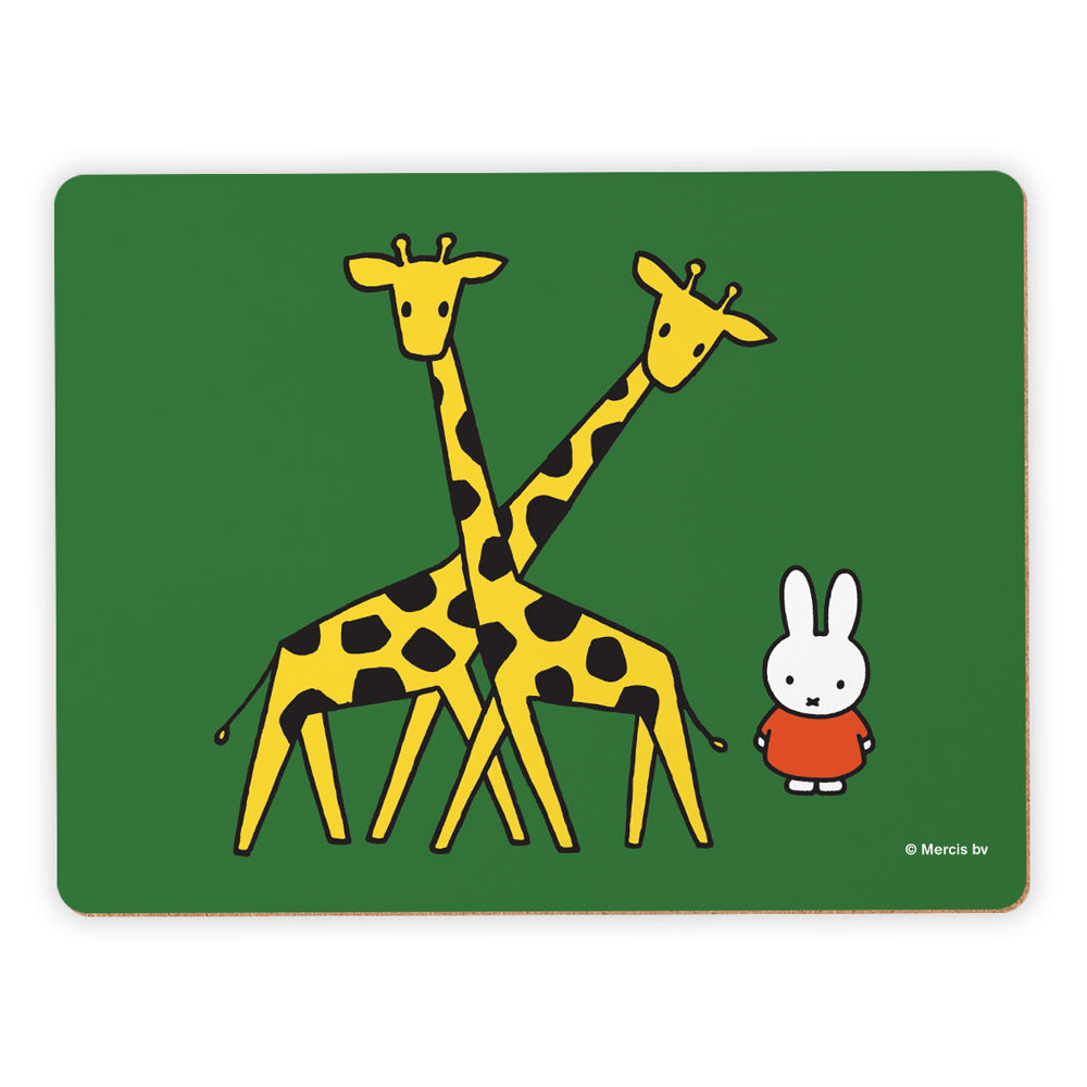 Miffy with Two Giraffes Placemat