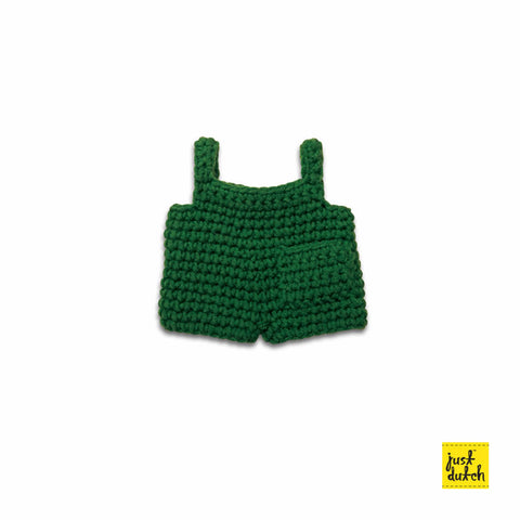 Miffy handmade clothes green overall Miffy Handmade Clothes