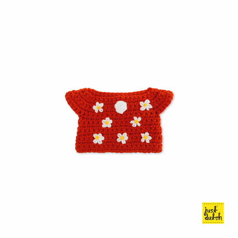 Miffy handmade clothes red flower dress Miffy Handmade Clothes
