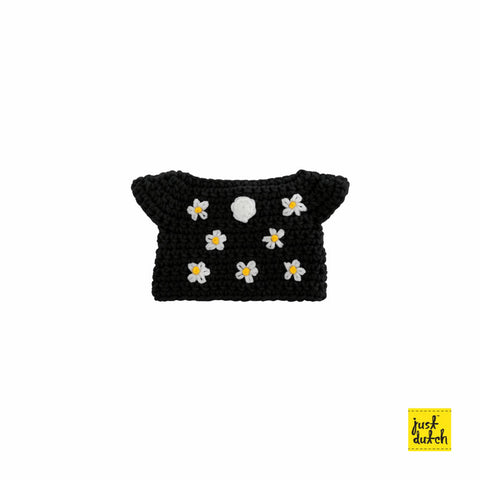 Miffy handmade clothes black flower dress