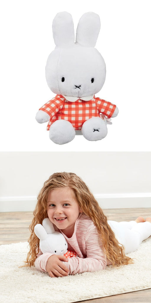 Miffy Orange Check Miffy Soft Toy