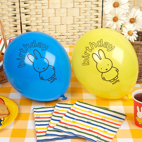 Miffy Birthday Balloons - 8 Pack Birthday Balloons