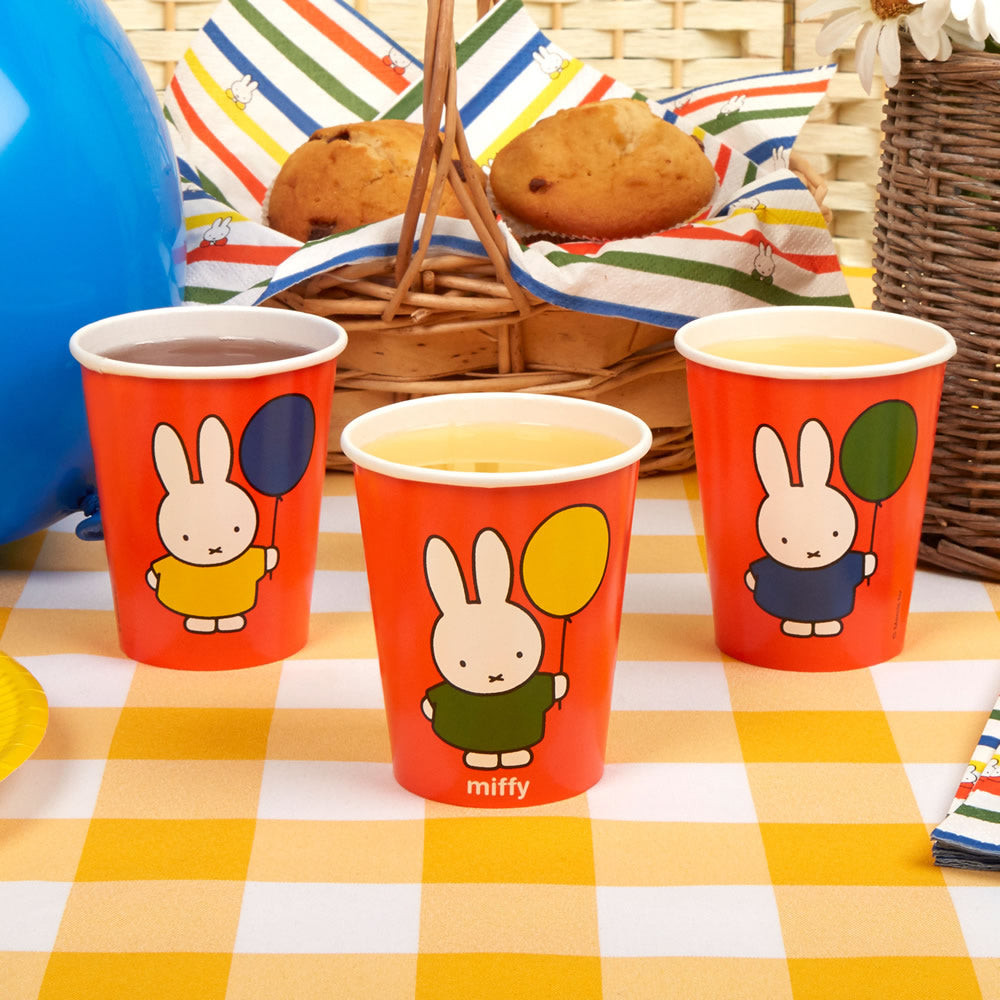 Miffy Birthday Cups - 8 Pack Birthday Cups