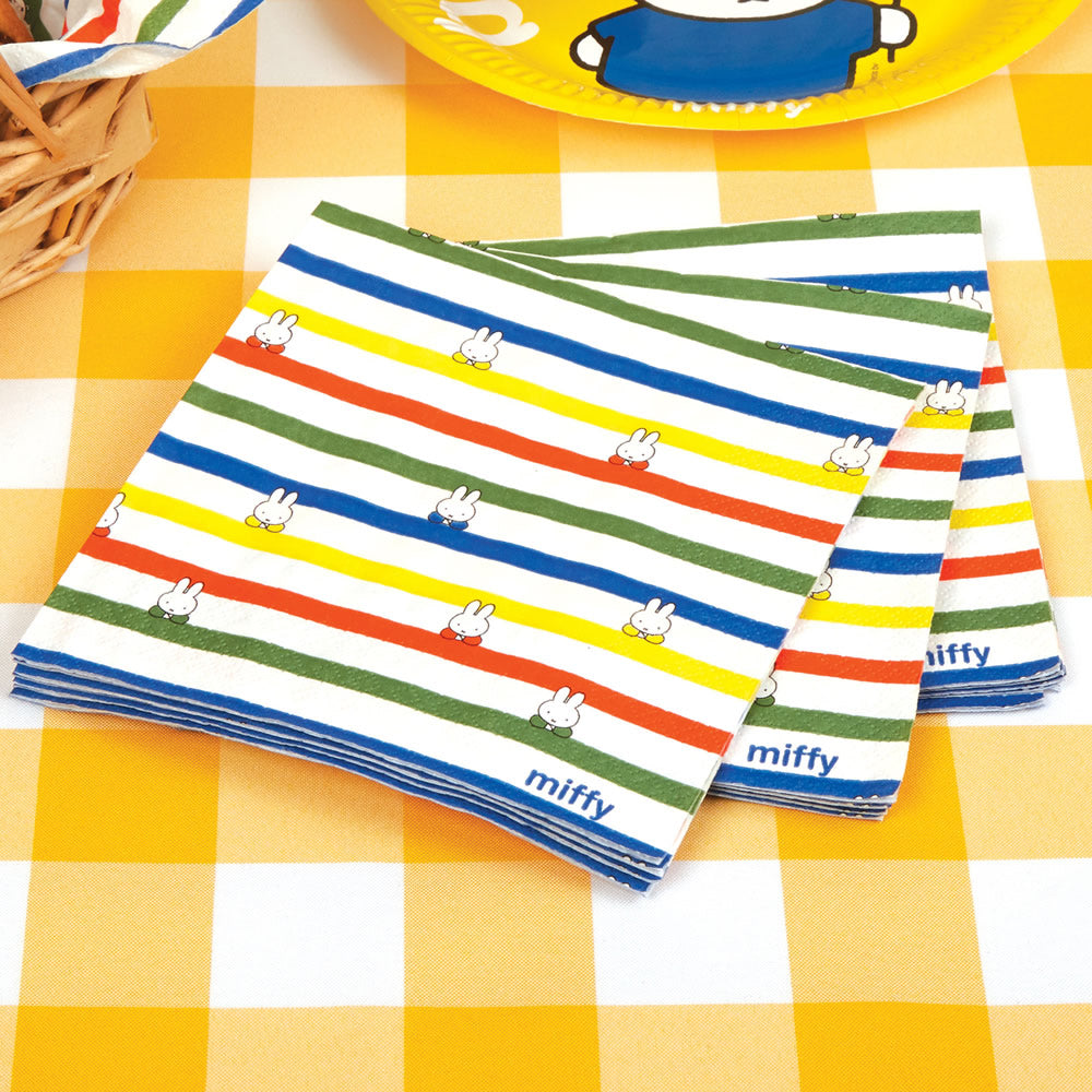Miffy Birthday Napkins - 16 pack Birthday Napkins