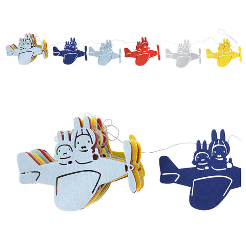 Miffy Felt Airplane Garland