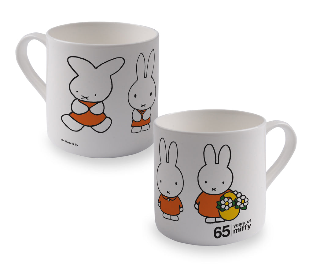 miffy evolution - 65th anniversary bone china mug