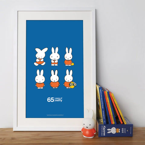 miffy evolution - limited edition 65th anniversary print