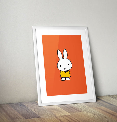 Miffy in a Yellow Dress Framed Mini Poster Framed Mini Poster