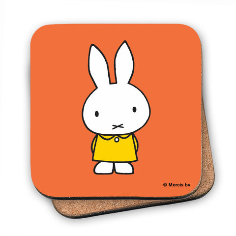 Miffy in a Yellow Dress Cork Coaster
