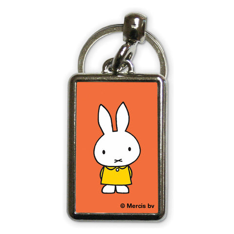Miffy in a Yellow Dress Metal Keyring
