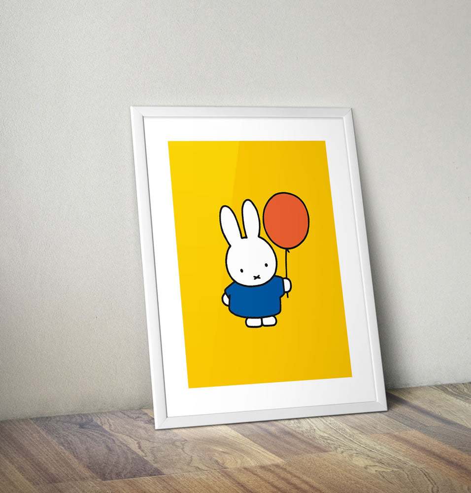 Miffy Holding a Balloon Framed Mini Poster Framed Mini Poster