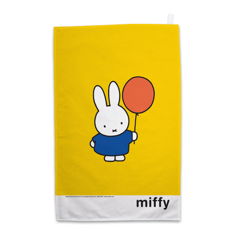 Miffy Holding a Balloon Tea Towel